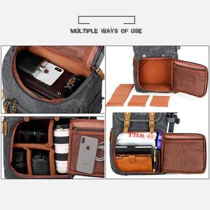 Image 5 - Batik kamera çantası tuval kamera sırt çantası su geçirmez çok fonksiyonlu açık aşınmaya dayanıklı kamera sırt çantası Canon/Sony/ nikon