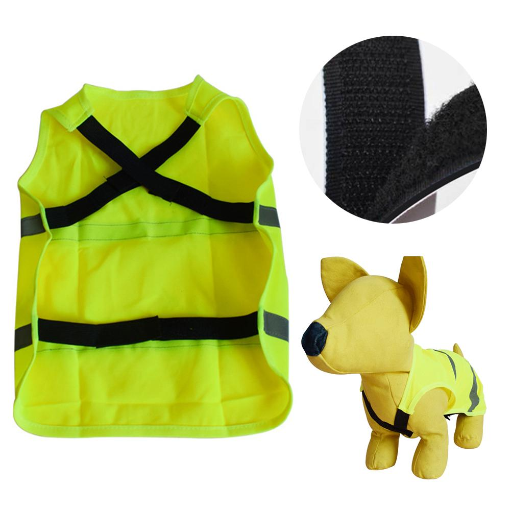 Reflective Dog Vest Clothes Fluorescent Lightweight Comfortable Material Adjustable Safety Clothes For Pet Dog Walking Hunting