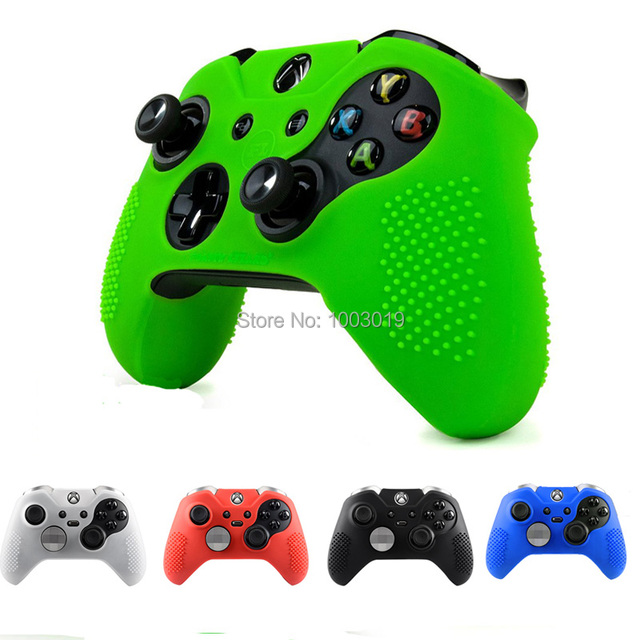 buy popular 8b9f1 d68e3 US $1.48 13% OFF|5 Color Non slip Soft Controller Protective Silicone Case  Skin Cover for Xbox One Elite Controller Accessorie-in Replacement Parts &  ...