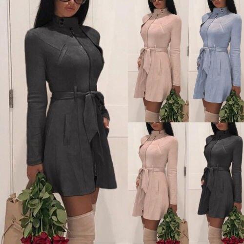 2019 Neue Mode Frauen Winter Casual Langen Graben Mantel Parka Jacke Warm Outwear Mantel