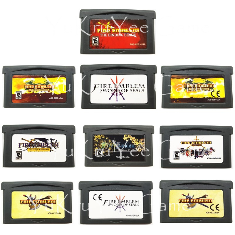 ed3bd0834 Video Game Cartridge Card Fire Emblem Series for 32 Bit Handheld Game  Console