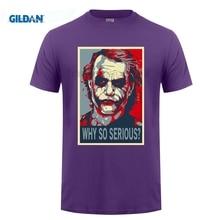 GILDAN Joker Heath Ledger T-shirt Summer Men Casual  So Serious T Shirt Hope Poster Tshirt Camisetas Hombre De Marca