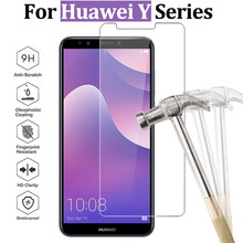 For Huawei Y9 2018 glass for Y6 prime protective Y3 Y5 ii screen protector Y 3 5 6 tempered glas 9h film