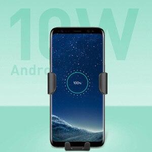 Image 4 - 10W QI chargeur rapide sans fil support de voiture support pour iPhone XS Max Samsung S9 pour Xiaomi MIX 2S Huawei Mate 20 Pro Mate 20 RS