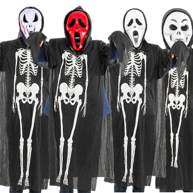 Halloween Skeleton Costume Kids.Us 9 65 38 Off Halloween Skeleton Costumes For Kids Ghost Horror Party Baby Girl Boy Clothes Mask Cosplay Dress For Women Scary Carnival Set In