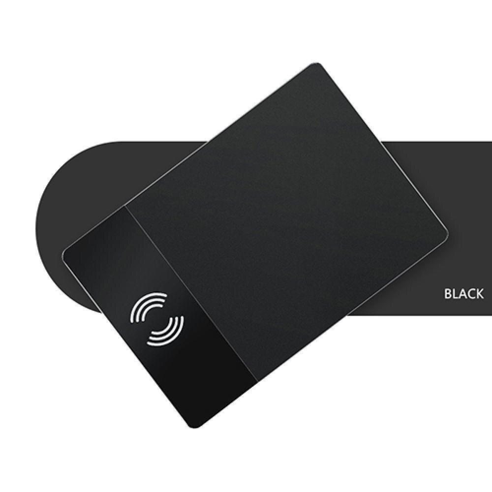 Qi Sans Fil De Charge Souris Pad P91 Noir Anti slip Ordinateur Chargeur de Jeu Tapis De Souris Gamer soutien téléphone portable PC