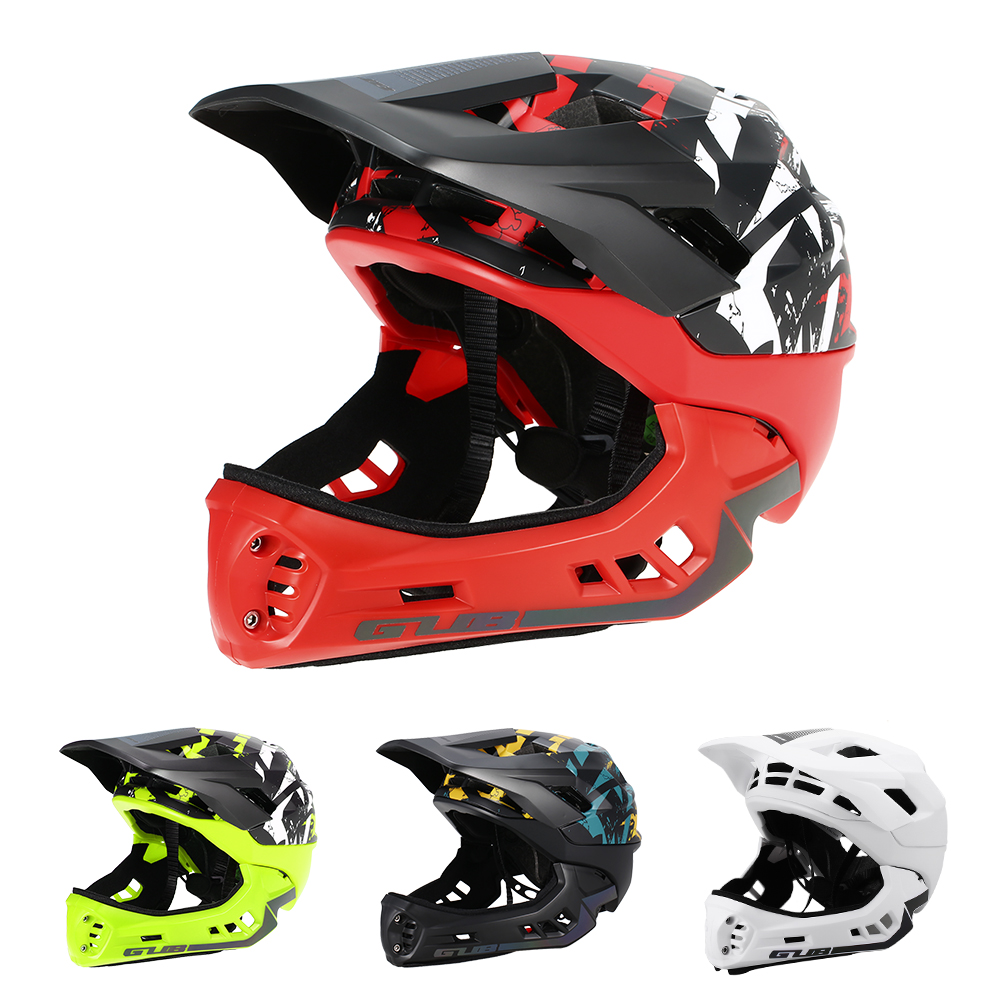 GUB Detachable Full Face Helmet for Child Cycling Skating Skiing Reflective Safety Helmet with Visor and Warning LightGUB Detachable Full Face Helmet for Child Cycling Skating Skiing Reflective Safety Helmet with Visor and Warning Light