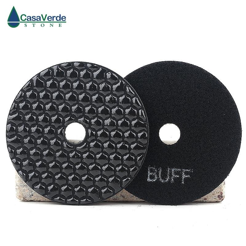 Free Shipping 4 Inch 100mm Black Buff Polishing Pad Wet For Polishing Granite,marble And Engineered Stone