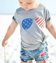 girls outfits girl toddler clothes children summer 2019 7 8 year outfit sets print cotton pullover flag top