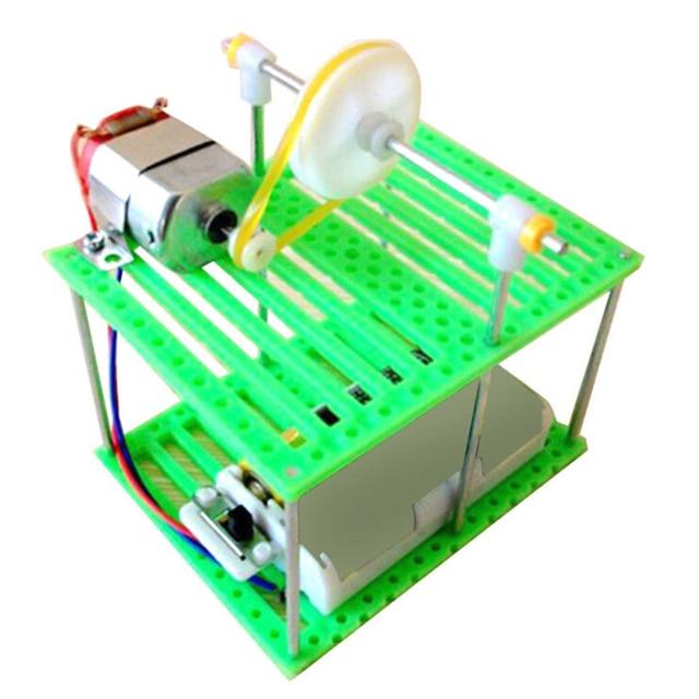 DIY Cabo Aéreo monorail Elétrica Crianças Brinquedo de Aprendizagem Física Circuitos Do Carro Kit de Montagem do Enigma brinquedos educativos conjunto presente de aniversário