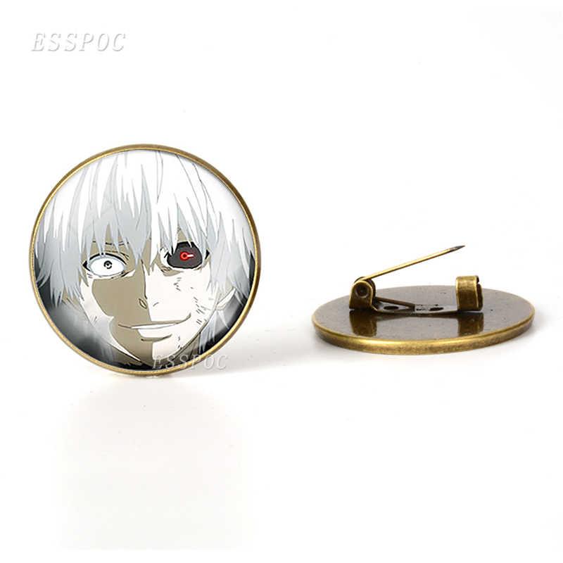 Tokyo Ghoul Lencana Perunggu Antik Bros Touka Kaneki Ken Rize Kamishiro Emblem Anime Bros Cosplay Hadiah