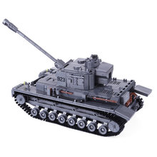 Hot Children DIY Small Particle Building Block German Armored Tank Model Military Vehicle Kit For 100% Building Block Brands(China)