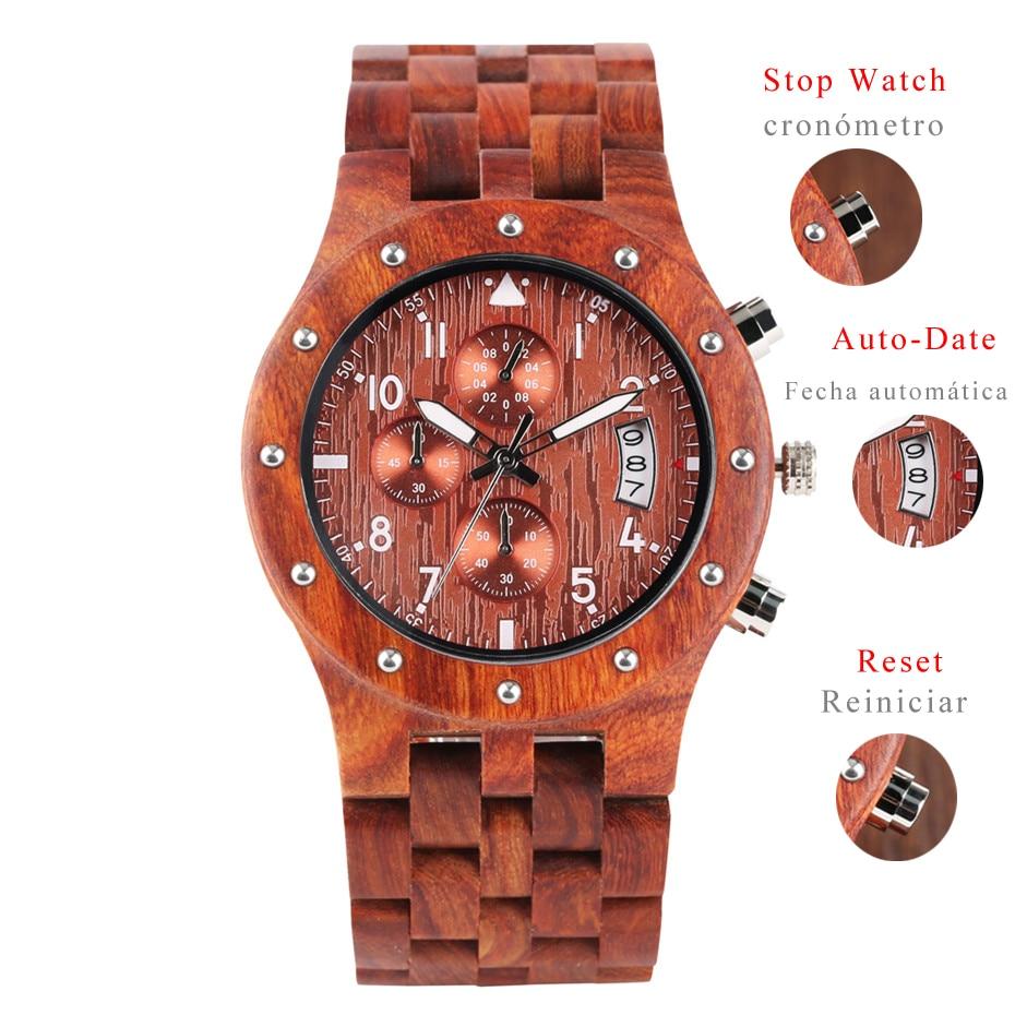 7b36ec62 Хронограф мужские часы деревянные наручные часы мужские спортивные модные мужские  деревянные часы Авто-дата деловые