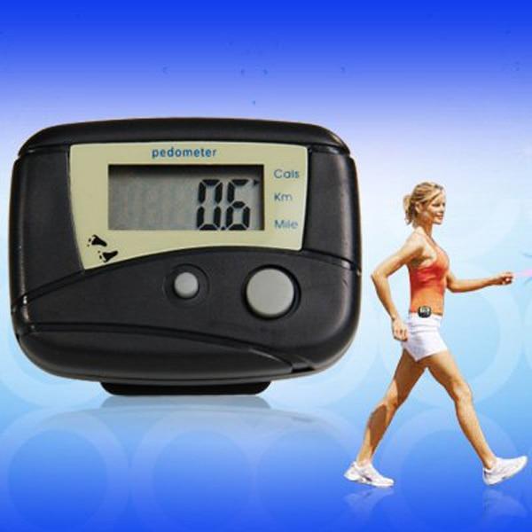 Tragbare Multi-funktions Lcd Display Digital Schrittzähler Schritte Walking Distance Calorie Zähler Weich Und Leicht schwarz