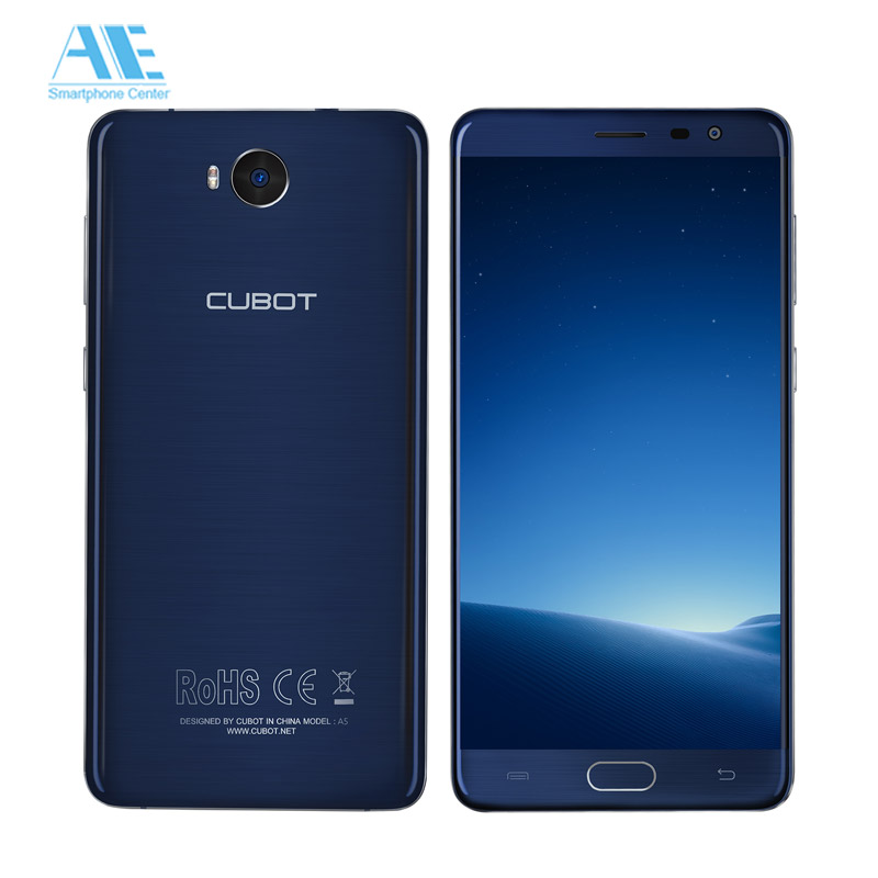 Original Cubot A5 5.5 Inch Android 8.0 Smartphone MT6753 Octa Core FHD Cell Phone 3GB RAM 32GB ROM 13MP Fingerprint Mobile Phone