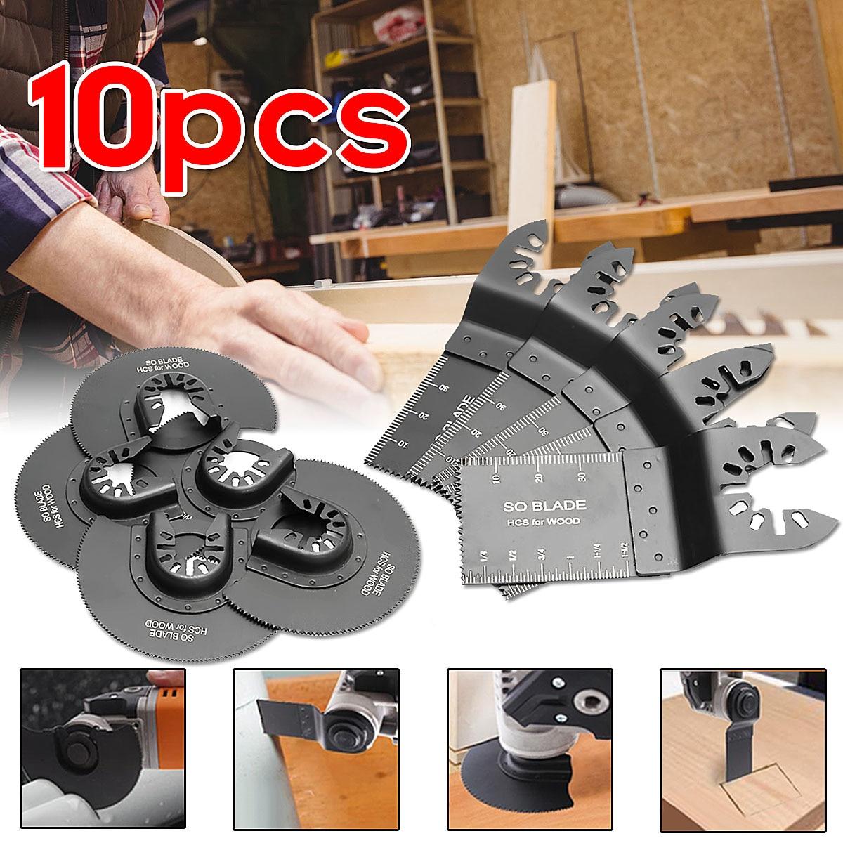 10 piezas multiherramienta hoja oscilante Multi herramienta hojas de sierra Circular para renovador para Fein Multimaster de corte de madera sierras