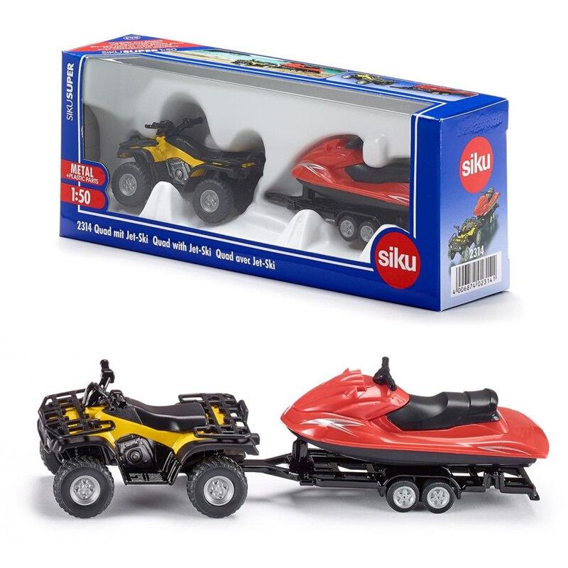 Geschickt Freies Verschiffen/siku 2314 Spielzeug/diecast Metall Modell/1:50 Skala/quad Mit Anhänger Und Jet- Ski/pädagogisches Sammlung/geschenk/kinder