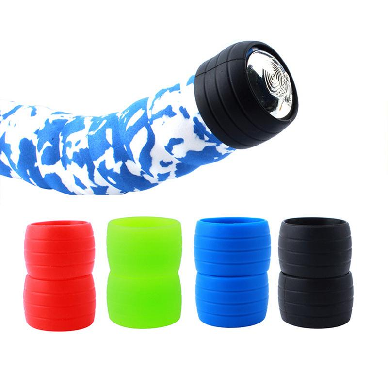 Bike Silicone Plug Rubber Anti-Skip Road Bike Plugs For Handlebar Tape Waterproof Wear Resistant Outdoor Strap Silicone Ring