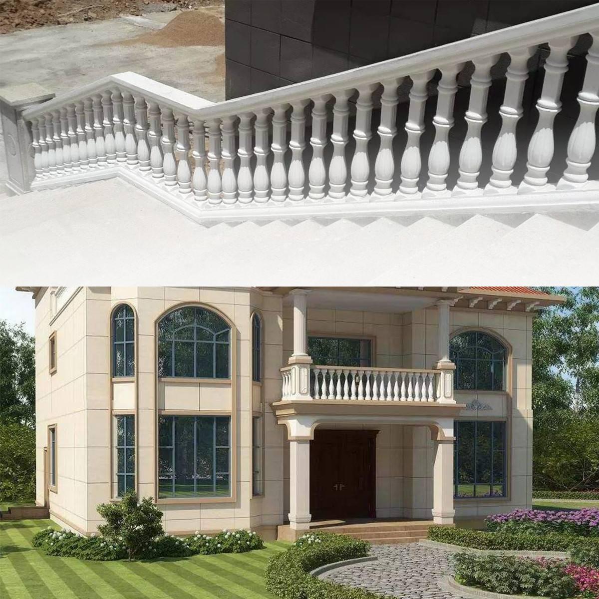 2Pcs 60 16 cm Roman Column Mold Fence Cement Mold Balcony Garden Railing Plaster Concrete Mold Plastic Casting guarden Building