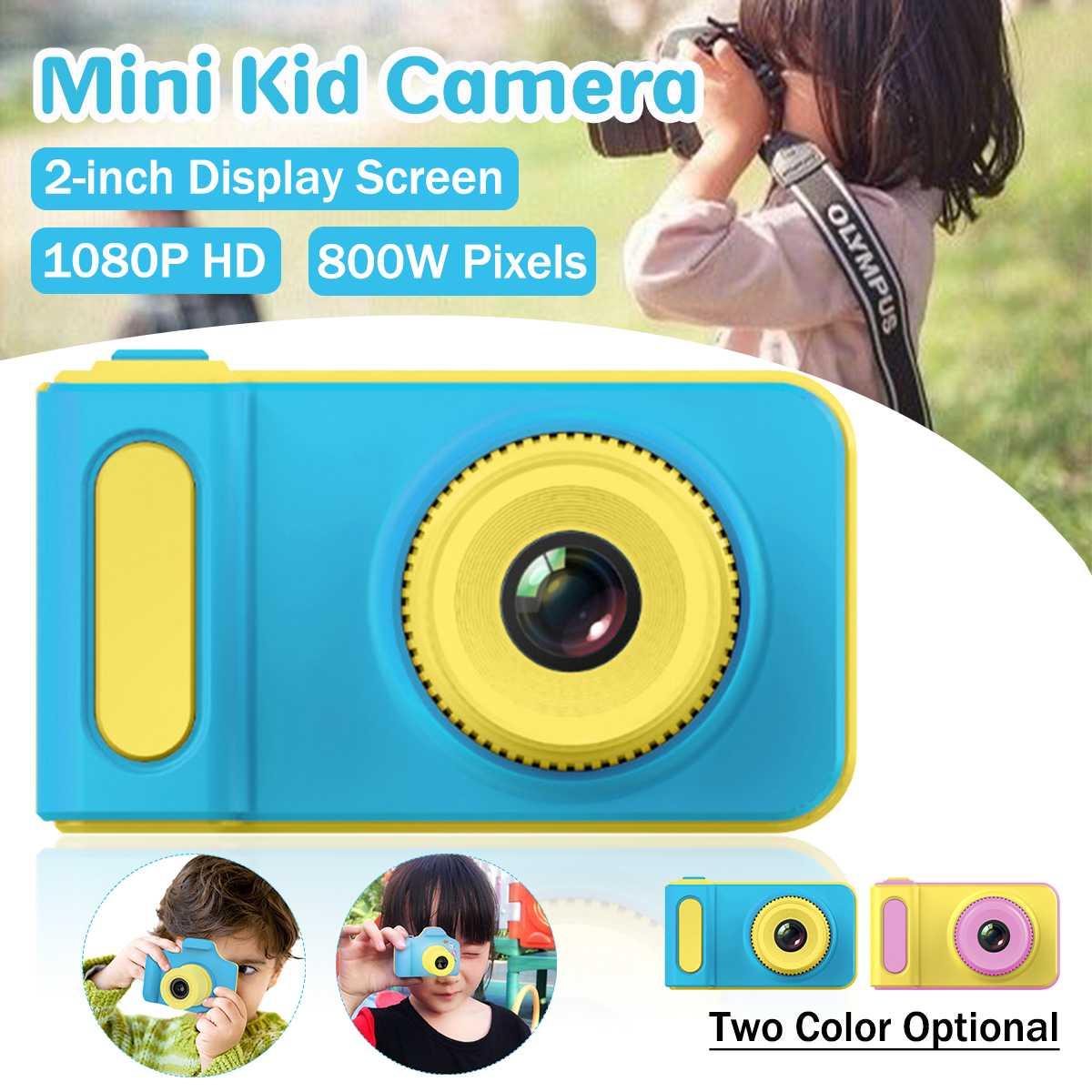 2 Inch 2MP 1080p Mini Cam Digital Camera For Kids Baby Cute Cartoon Multifunctio