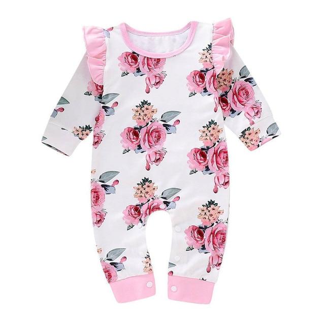 b93a99efb Aliexpress.com   Buy Cute Newborn Infant Baby Girls Floral Romper ...