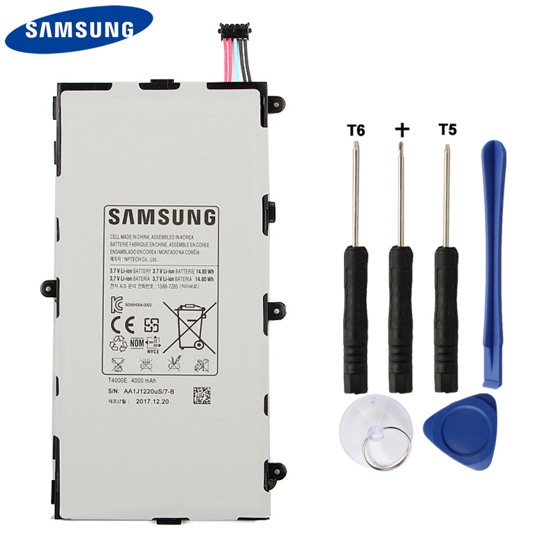 Samsung Original Replacement Tablet Battery T4000E For Samsung GALAXY Tab3 7 0 T210 T211 T2105 T217a Authenic Battery 4000mAh in Mobile Phone Batteries from Cellphones Telecommunications