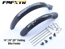FMF 14 16 20 Folding Bicycle Fender Double Bracing Adjustable Size Mudguard Front and Rear Mud Guard High Quality bicycle wings 20 24 26 27 5 inch 700c fender mudguard double bracing adjustable size for folding bike front and rear mud guard