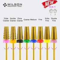5 in 1 (Fastest Remove Acrylics or Gels) - WILSON Carbide Nail Drill Bit