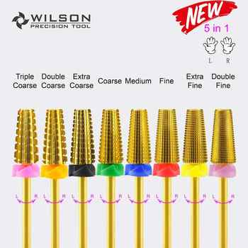 5 in 1 (Fastest Remove Acrylics or Gels) - WILSON Carbide Nail Drill Bit - Category 🛒 Beauty & Health