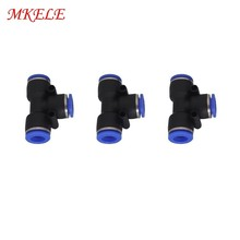 3 Way T Shaped 4mm To 16mm PE Series Penumatic Fitting OD Hose Tube Push In Air Gas Fitting Quick Fittings Connector  1 Pcs original gas fitting grgo m3 qs 3 175045