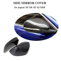 Replacement Mirror cover for For Jaguar XE XK XF XJ XKR 2010 2018 Carbon Fiber Add on side mirror cover caps