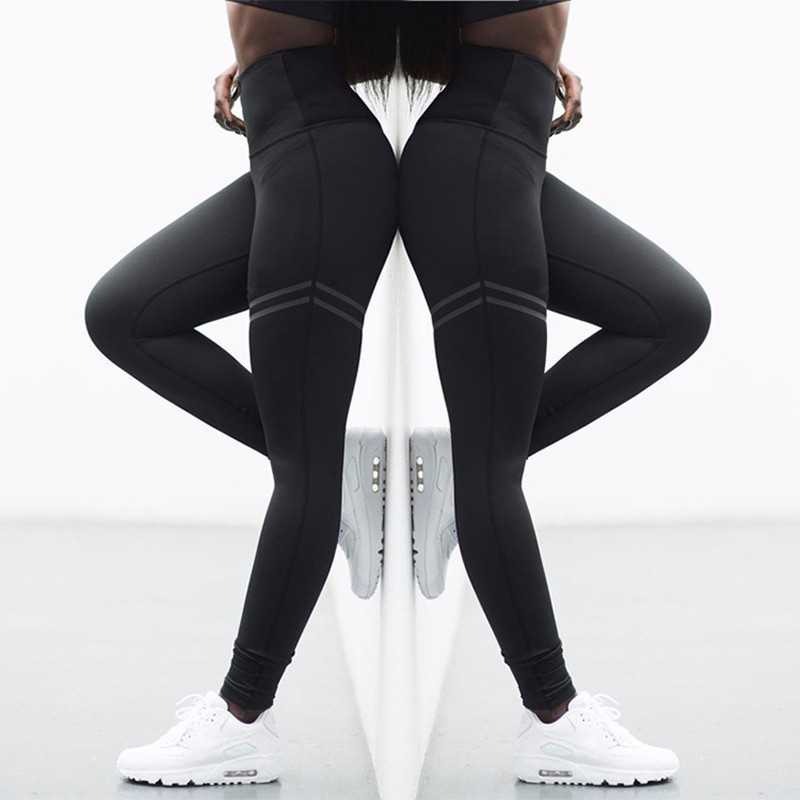 Seamless Running Sport Leggings Women Solid Fitness Yoga Legging 2019 Gym Training Yoga Pants Elastic Breathable Sports Wear image
