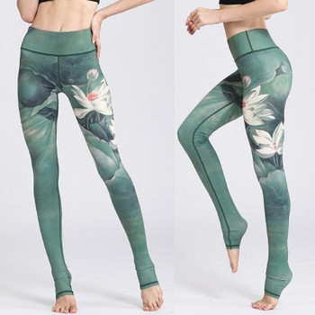 Stretched Printed Yoga Pants Women Sports Pants Fitness Running Sexy Push Up Gym Wear Elastic Slim Workout leggings Trousers