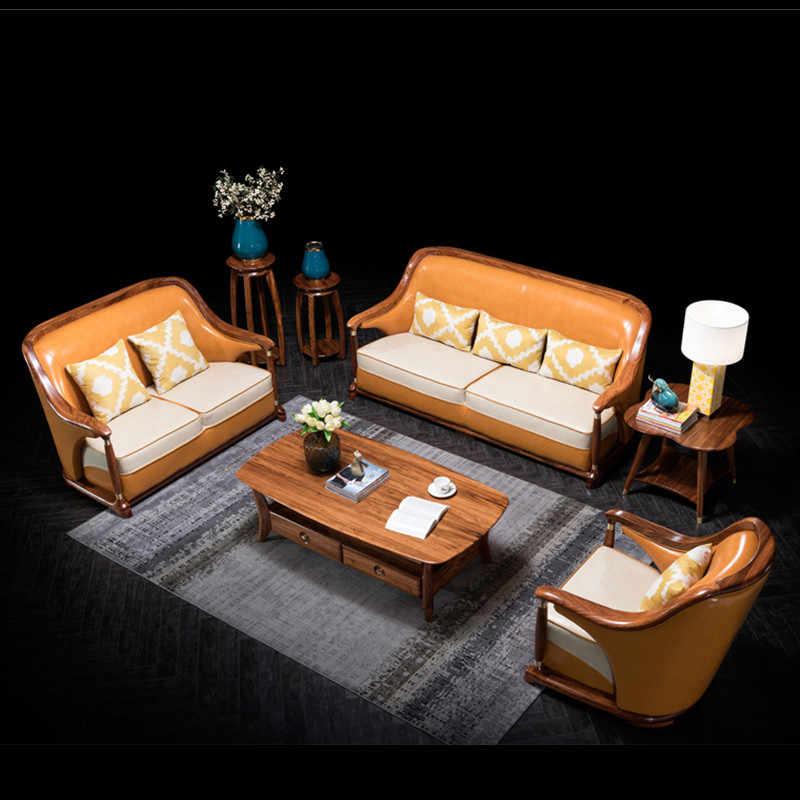 bois moderne chinois divano salon