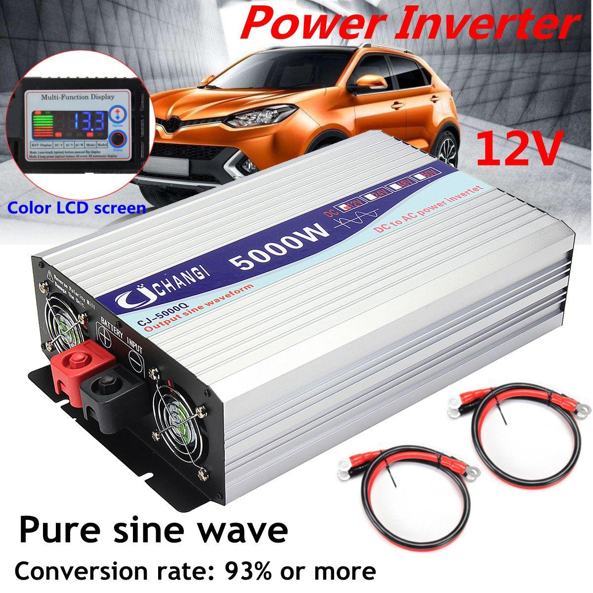 Solar Inverter 12V/24V 110V 6000W/5000W/4000W/3000W Voltage Converter Transformer Pure Sine Wave Inverter 12V/24V 110V InversorSolar Inverter 12V/24V 110V 6000W/5000W/4000W/3000W Voltage Converter Transformer Pure Sine Wave Inverter 12V/24V 110V Inversor