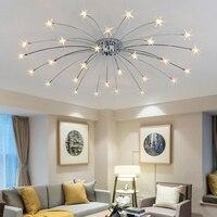 Star Chandelier Modern Bedroom Living Room Ceiling Decoration Lighting Fixture Children's Room lamp With G4 LED Bulbs AC220V