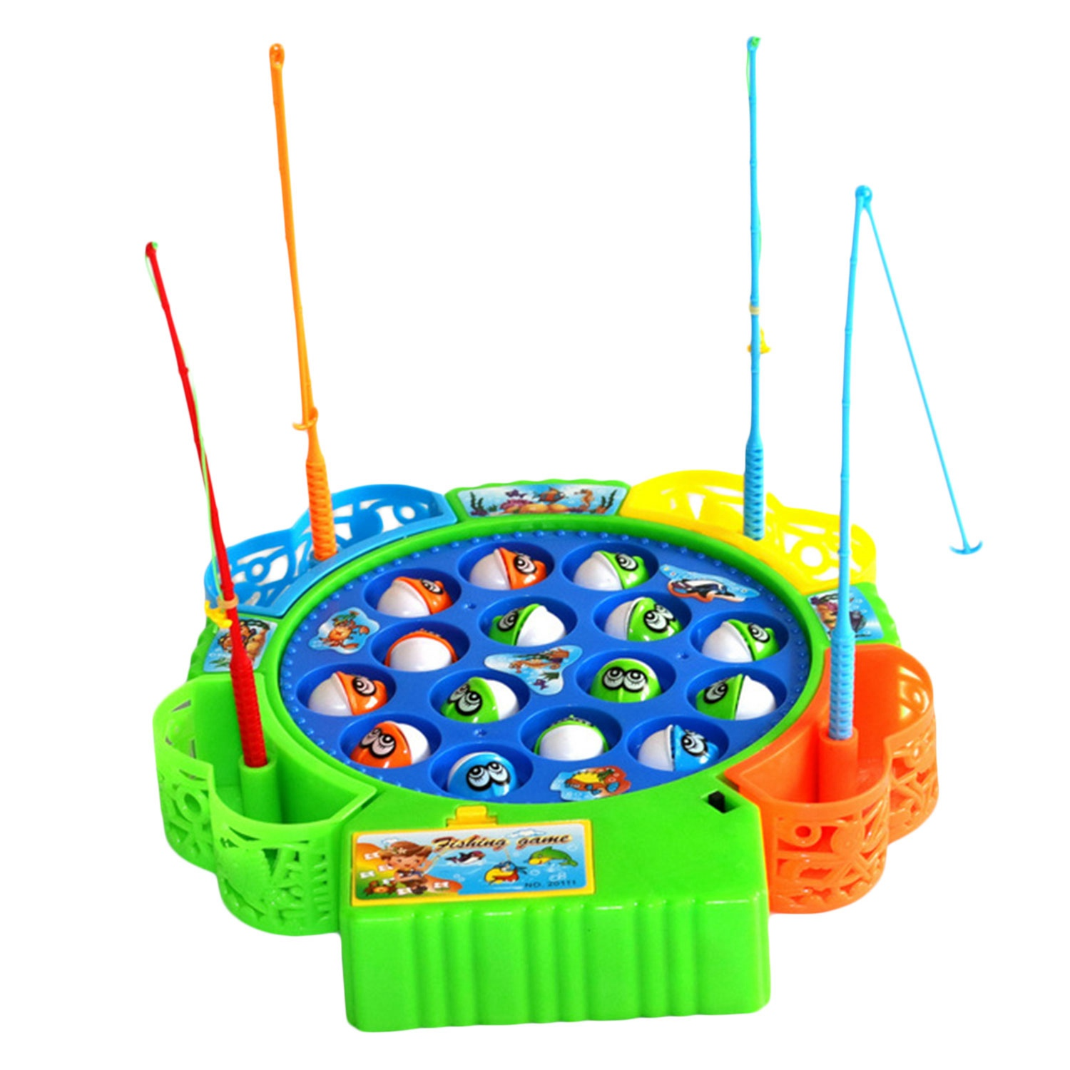 Fishing Toys Aspiring Baby Educational Toys Fish Musical Magnetic Fishing Toy Set Fish Game Educational Fishing Toy Child Birthday Gift Easy And Simple To Handle