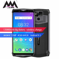 Ulefone Power 5S 4G 13000mAh Smartphone Android 8.1 4GB+64GB Octa Core Face ID Wireless Charger 6.0 FHD mobile cell Phone