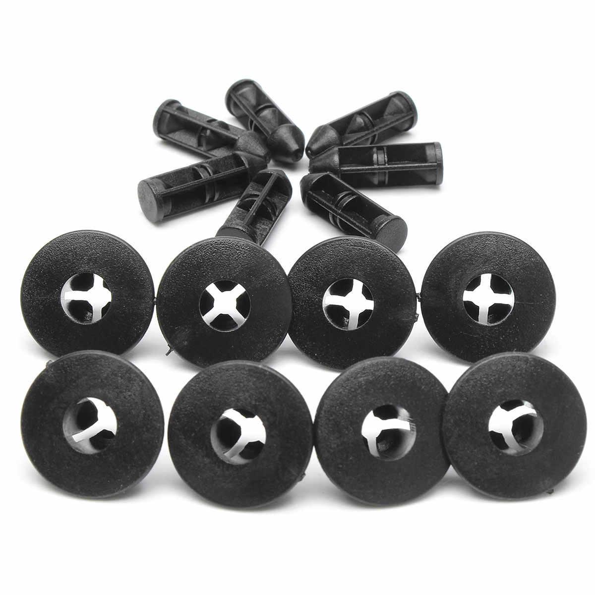 10 pièces En Plastique Rivets agrafe de garniture 8mm Pour Suzuki Pare-chocs Bas de Caisse Garniture Panneau Kit Nouveau