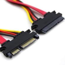 30 ซม.7 + 15 PIN Serial ATA SATA Data Power Combo EXTENSION CABLE Connector Conterver ฮาร์ดไดรฟ์สายเชื่อมต่อ