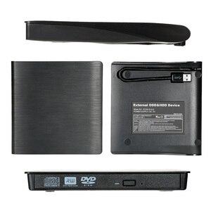 Image 5 - 9.5mm USB 3.0 SATA כונן אופטי מקרה חיצוני נייד DVD נייד מארז DVD נגן DVD/CD ROM RW מקרה למחשב נייד mac