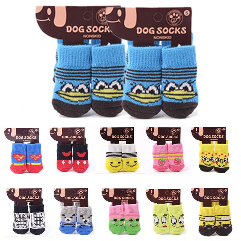 2pair Lovely Pets Sock Fashion Dogs Socks Cute Puppy Dogs Pet Knits Socks Cartoon Anti Slip Skid Bottom S/M/L For Small Dog