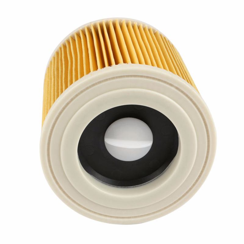 Ev Aletleri'ten Elektrikli Süpürge parçaları'de En kaliteli yedek hava toz filtreleri çanta Karcher elektrikli süpürgeler parçaları kartuş HEPA filtre WD2250 WD3.200 MV2 MV3 W title=