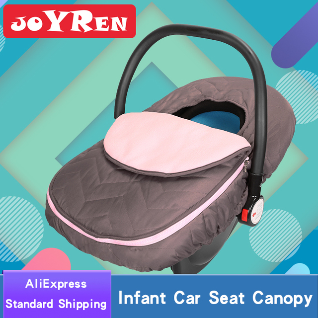 Infant Car Seat Canopy Zipper Opening Baby Cover To Keeps Your Toasty Warm