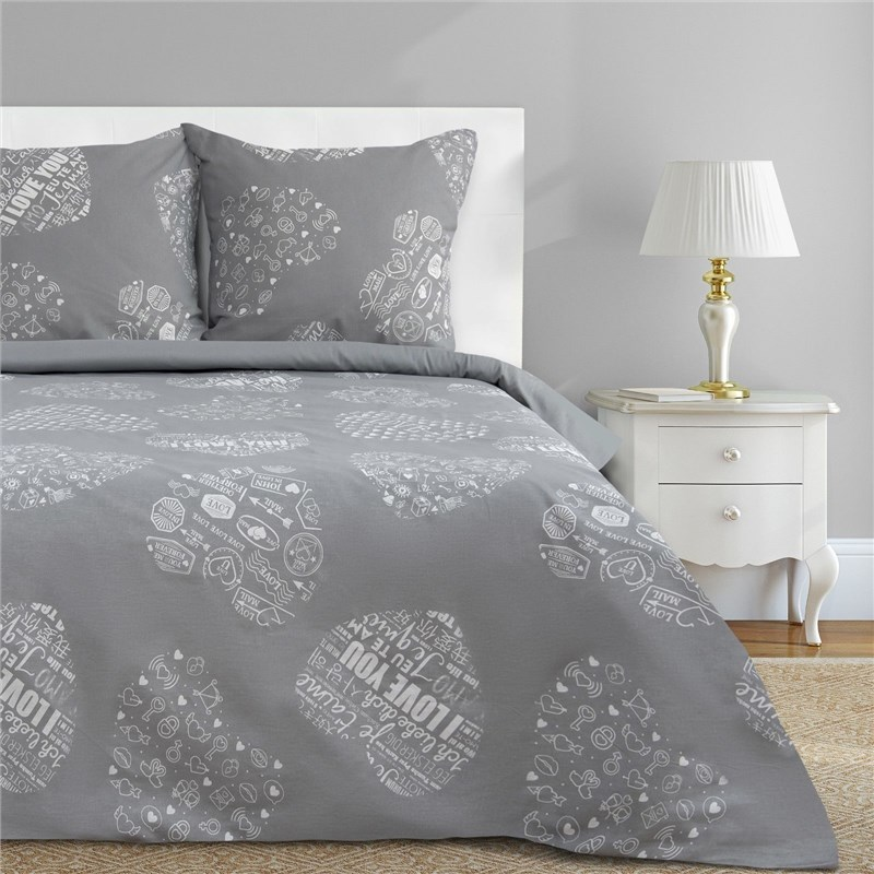 Bed Linen Ethel Euro Te amo (type 1) 200x217 cm, 220x240 cm, 70x70-2 pcs, calico calico print crochet back mix