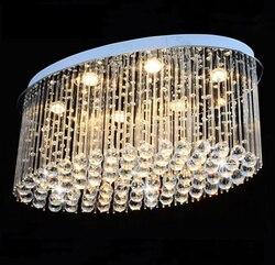 Owalne luksusowe kryształ sufitu światło dla pokoju gościnnego domu jadalnia światła lampy hotelu lampa twórcze Retro żelaza