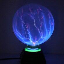 Bola de plasma de 6 Polegada 8 Polegada, esfera de vidro mágica, novidade, bola de relâmpago, mesa de plasma, lâmpada levitória, luz de vidro