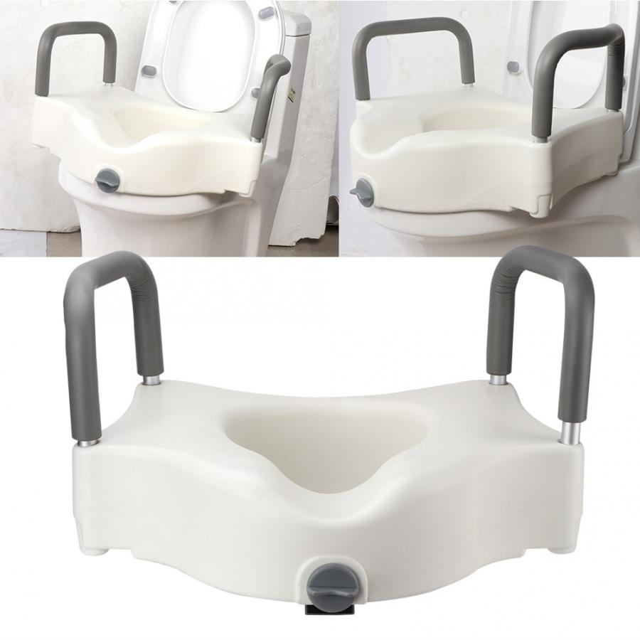 Admirable Us 93 19 37 Off Removable Raised Toilet Seat With Arms Handles Padded Disability Aid Toilet Seat Elderly Pregnant Heightening Toilet Supports In Creativecarmelina Interior Chair Design Creativecarmelinacom