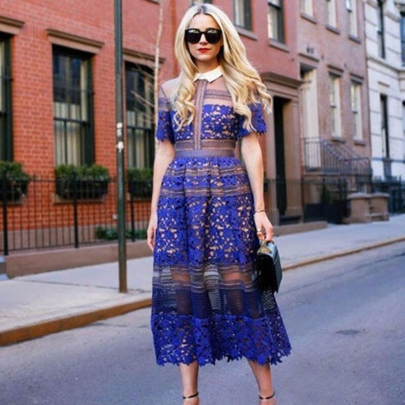 Longue Creux Turn Spéciale down Pour Vêtements Marée Blue Femme Offre À Nouveau Be858 2018 Causal Deat Mode Section La Robe Col zpqSUVGM