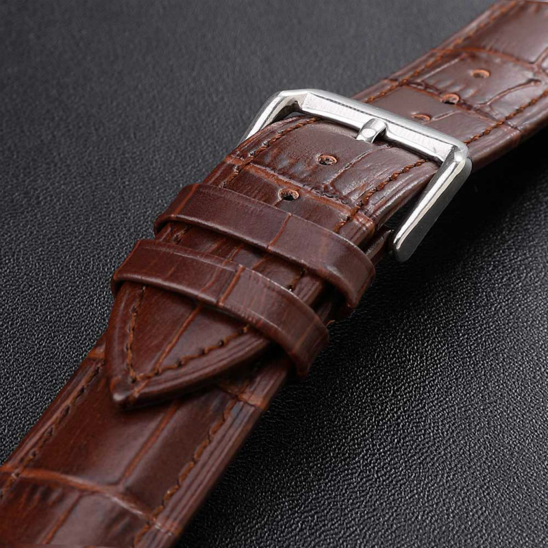 Leather Men Watchband Women Watch Band 20mm 22mm 18mm 16mm 24mm 26mm 14mm 12mm Wrist Watch Strap Watchband Bracelet Metal Buckle